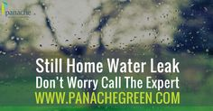 Still Home Water Leak ? Don't Worry It's Time To Call The Expert - www.panachegreen.com
