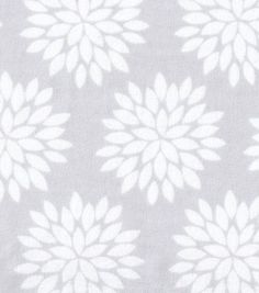 Snuggle Flannel Fabric Mums Gray