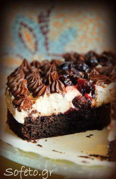 ! Η σοκολατόπιτα  !!! Candy Crash, Cheesecake Brownies, Party Desserts, Greek Recipes, Christmas Time, Main Dishes, Seafood, Sweet Tooth, Bakery