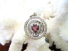 Vintage Sterling Silver Happy Birthday Charm w by charmingellie, $9.99