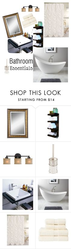"""""""Bathroom Essentials"""" by maryann-bunt-deile ❤ liked on Polyvore featuring interior, interiors, interior design, home, home decor, interior decorating, Uttermost, Kenroy Home, InterDesign and WALL"""