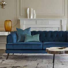 PLUSH - Warwick Fabrics Ltd Warwick Fabrics, Blue Velvet, Armchair, Plush, Woodworking, Friday, Furniture, Night, Home Decor