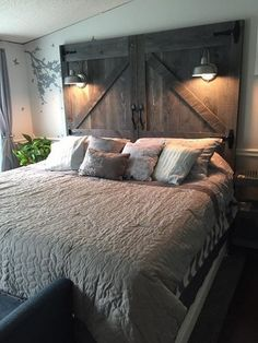 Visit Us For More Rustic Bedroom Inspirations Are You Inspired? Visit Us For More Rustic Bedroom Inspirations Rustic Bedroom Design, Rustic Master Bedroom, Bedroom Vintage, Home Bedroom, Bedroom Designs, Modern Bedroom, Contemporary Bedroom, Bedroom Romantic, Cottage Bedrooms