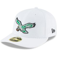 f5c37a280bb Philadelphia Eagles New Era Throwback Logo Omaha Low Profile 59FIFTY Fitted  Hat - White