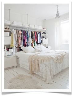 exposed closet space/my apartment style