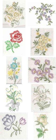 Open Work Florals Embroidery Machine Design Details