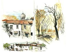 "Norberto Dorantes_Rawson_Alta (8x10"") by Urban Sketchers, via Flickr"