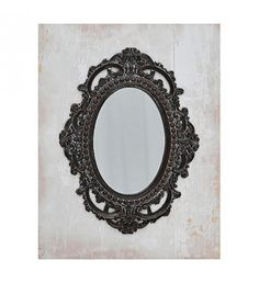 MDF_POLYRESIN WALL MIRROR IN SILVER-GREY COLOR 38X3X48