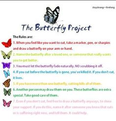 Butterfly project - love it! I'm going to get a butterfly tattoo because of it