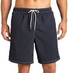 8e7be385b3 Nautica Men s Solid Nylon Swim Trunk