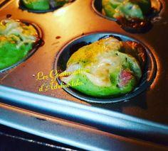 Muffins aux courgettes /jambon, saveur basilic  Réalisation sur le blog.Les gourmandises d'Adeline toks by adeline toks