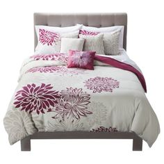 Anya 6 Piece Duvet Cover Set - Magenta