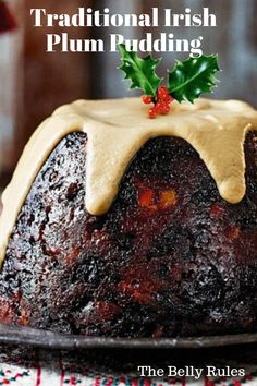 Traditional Irish Plum Pudding Traditional Irish Plum Pudding - My Recipe Magic Christmas Sweets, Christmas Cooking, Christmas Holidays, Christmas Cakes, English Christmas Pudding, Irish Christmas Pudding Recipe, Christmas Plum Cake Recipe, Xmas Pudding, Crack Crackers