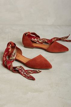 ISO Matiko Rey flats—Anthropologie Rust-colored suese flats with tapestry ankle tie Anthropologie Shoes Flats & Loafers Women's Shoes, Shoes 2018, Louboutin Shoes, Me Too Shoes, Shoe Boots, Gucci Shoes, Shoes Sneakers, Balenciaga Shoes, Valentino Shoes