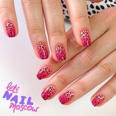 Neon Gradient Cheetah  by @letsnailmoscow via @nailartgallery #nailartgallery #nailart #nails #polish #neon #leopard #cheetah #leopardprint #gradient #pinknails #cheetahprint #gradientnails #nailpolish #handpainted