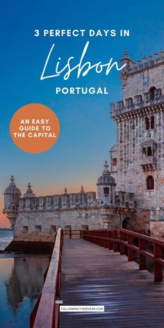 3 Days In Lisbon Portugal. Plan your trip to the Portuguese capital with this easy-to-follow travel itinerary. Including the must-see sights, as well as where to eat, and where to sleep, it's a useful guide for first-time travelers. | Lisbon | Lisboa | Portugal | Portogallo | Lisbon Travel | Portugal Travel | Weekend In Lisbon | Weekend Getaway | European Destinations Places In Portugal, Visit Portugal, Portugal Travel, Spain And Portugal, Travel Goals, Us Travel, Southern Europe, Europe Travel Guide, European Travel