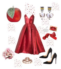 """Love love ❤️❤️"" by akcabeyza on Polyvore featuring moda, Alex Perry, Marni ve Christian Louboutin"