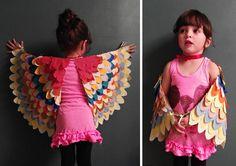 Coloridas, adorables y mágicas, estas alas de tela. Puedes encontrar el tutorial en Llevo el invierno.