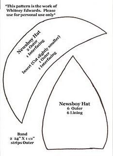 Newsboy Hat Pattern