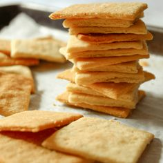 These crackers are the perfect canvas for your favorite dips, spreads and toppings. They are buttery and super flaky plus they come together in a snap with only 4 ingredients!