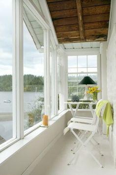 veranda bois blanche