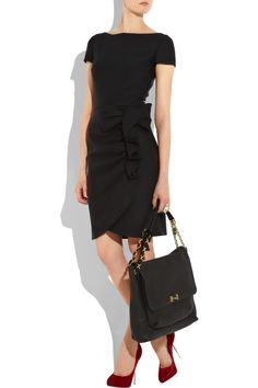 Valentino's bow-embellished black wool and silk dress.