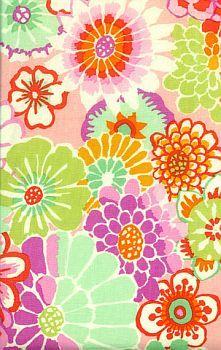 Kaffe Fassett Prints-asian circles pink