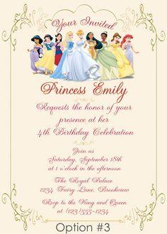 DIY Disney Princess Party | ... : Personalized Royal Princess Birthday Invitation - DIY Printable