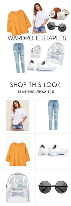 """Untitled #47"" by lejlasehic ❤ liked on Polyvore featuring GRLFRND, MANGO, Converse, Accessorize and Whiteley"