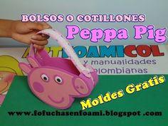BOLSOS O COLTILLONES  PEPPA PIG PARA FIESTAS INFANTILES EN FOAMY