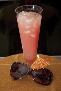 Peach on Malibu Beach ~ Malibu, Peach Schnapps, Cranberry Juice, OJ, & Pineapple Juice