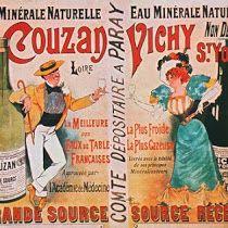Eau Minerale Naturelle de Couzan Vichy St. Yorre - Vintage French Advertising Poster