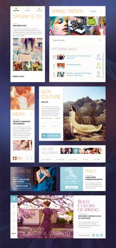 Ui Kit (Fashion) by Mike Webdesign Inspiration, Website Design Inspiration, Design Ideas, Modern Web Design, Web Ui Design, Graphic Design, Ui Kit, Web Layout, Layout Design