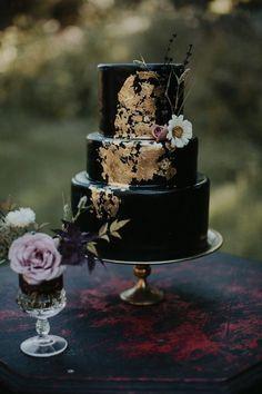 55 Super Elegant Black And Gold Wedding Ideas; 55 Super Elegant Black And Gold Wedding Ideas; Pretty Wedding Cakes, Wedding Cake Roses, Black Wedding Cakes, Fall Wedding Cakes, Elegant Wedding Cakes, Wedding Cake Designs, Wedding Ideas, Wedding Black, Wedding Themes