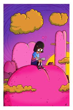Work i did while designing on Bob's Tina on Butt-Mountain Iphone Wallpaper Images, Cute Wallpapers, Bobs Burgers Wallpaper, Bobs Burgers Seasons, Burger Drawing, Bobby Burgers, Tina Belcher, Wall Collage, Artwork Prints