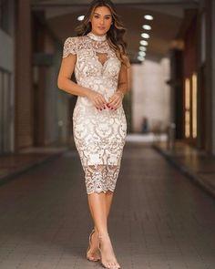 Lace Party Dresses, Bridal Dresses, Lace Dress, Prom Dresses, Formal Dresses, Elegant Outfit, Elegant Dresses, Pencil Dress Outfit, Courthouse Wedding Dress