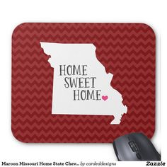 Maroon Missouri Home State Chevron Mouse Pad