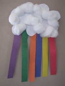 Rainbow Crafts for preschoolers / any age. Looks like fun for me too!