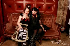 steampunk carnival | With my friend Alice! Doesn't she make the most gorgeous bearded lady ...