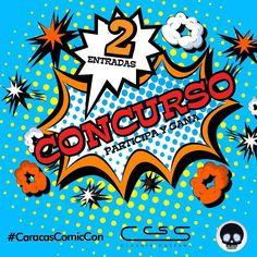 [Concurso Instagram]  #CalacasCaracas te invita a participar por 2 entradas para el #CaracasComicCon que se desarrollará en el salón #urbancuplé del Centro Comercial Ciudad Tamanaco #ccct Estaremos en el stand nro. 90 - N1 Nivel Show los días viernes 18 sábado 19 y domingo 20 de Noviembre de 2016.  Pasos:  1. Seguir en Instagram a @claudia_cassani y @calacascaracas 2. Etiquetar a tres amigos. Mientras más comentarios escribas más posibilidades tienes de ganar (etiqueta a tres cuentas…