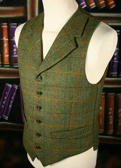 Bookster tweed back waistcoat