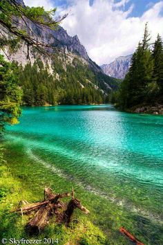 The Green Lake in Styria, Austria