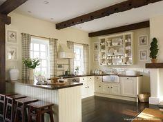 The kitchen in Barbara & Rob Bluestone's Irish schoolhouse near Carrigart in County Donegal.
