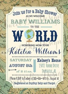 Welcome to the World Baby Shower by SweetBeeDesignShoppe on Etsy