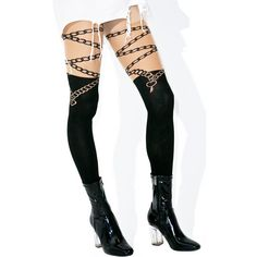 Lock And Key Opaque Tights ($12) ❤ liked on Polyvore featuring intimates, hosiery, tights, sexy tights, sexy pantyhose, thigh high pantyhose, leg avenue pantyhose and sexy thigh high stockings