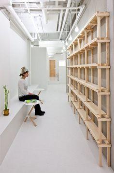 Link Beauty Salon by Yasunari Tsukada Design - Design Milk Design Loft, Salon Design, Design Design, Cover Design, Design Ideas, Graphic Design, Diy Interior, Interior Design, Retail Interior