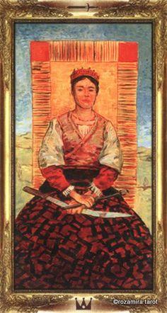 Queen of Swords - Impressionist Tarot by Arturo Picca