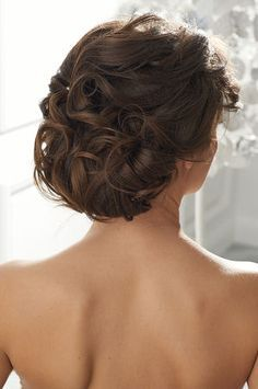 brunette updo with flowers - Google Search