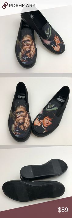 Sperry Star Wars NWOT Chewbacca Hans Solo Sneakers Limited edition! Super cool! Reasonable offers accepted! Bundle for  private discount! Sperry Shoes Sneakers