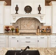 I so want these counter tops along with the back splash in my future kitchen!